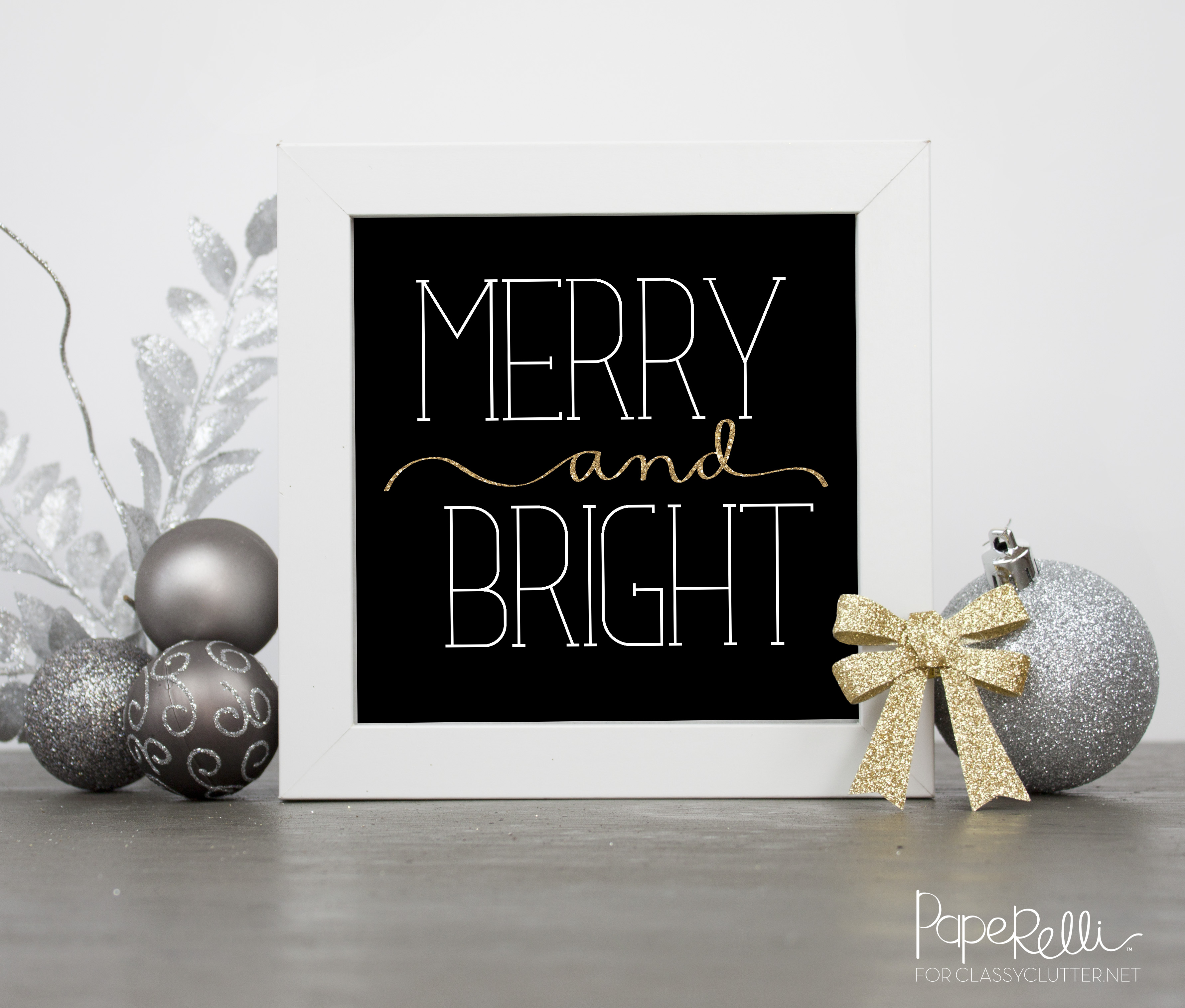 Gold Glitter Christmas Printables
