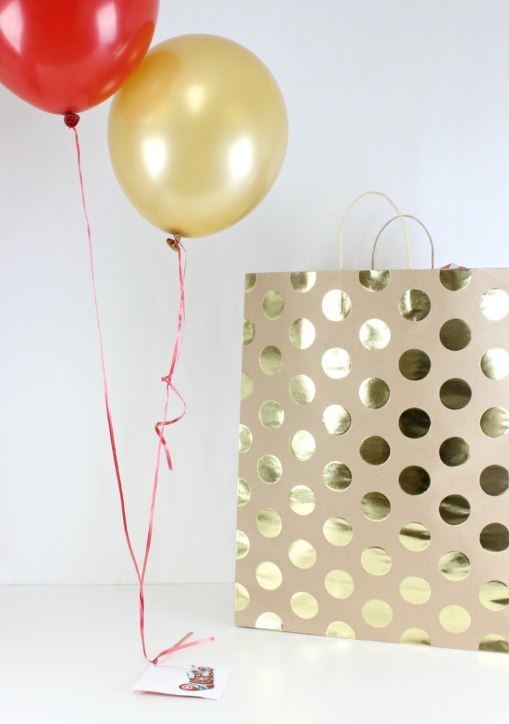 Place balloons in bag