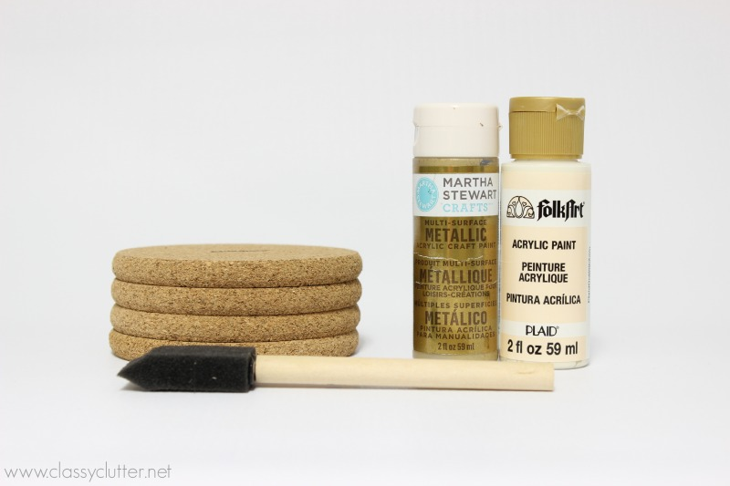 Supplies for DIY Coasters