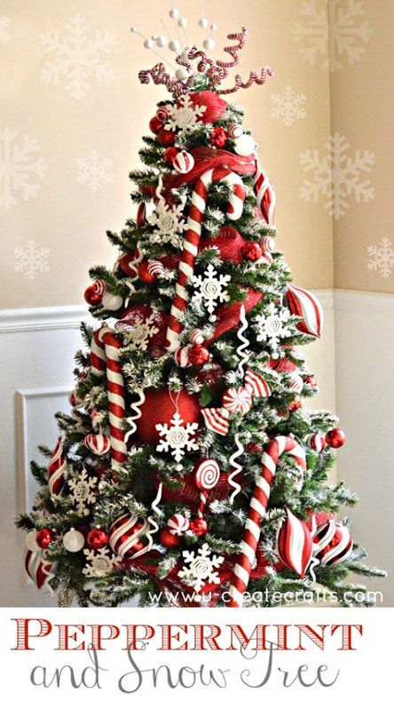 peppermint christmas tree decoration ideas