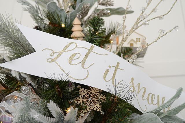 Let it snow Christmas Tree Decoration Ideas