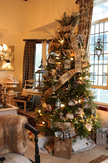 Farmhouse Christmas Tree Decoration Ideas