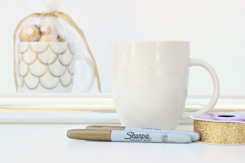 Scalloped Sharpie Mug Materials