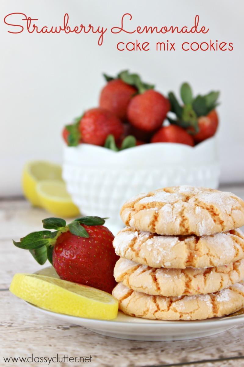 Strawberry Lemonade Cookies - www.classyclutter.net