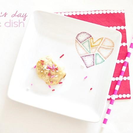Valentine's Cookie Dish