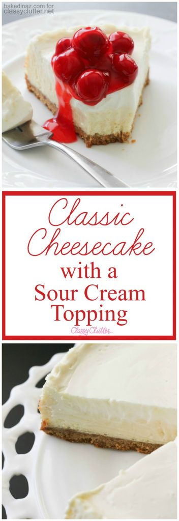 do you have to cook sour cream topping on cheesecake