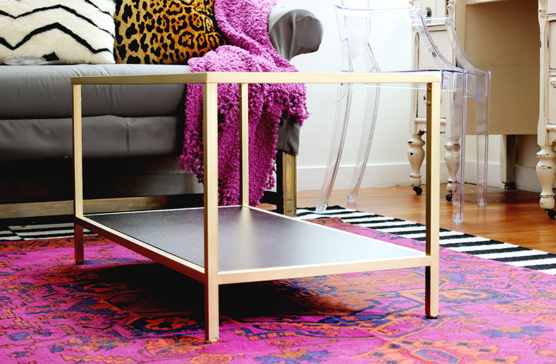 Easy diy project diy coffee table easy ikea hack painted coffee table watchthetrailerfo