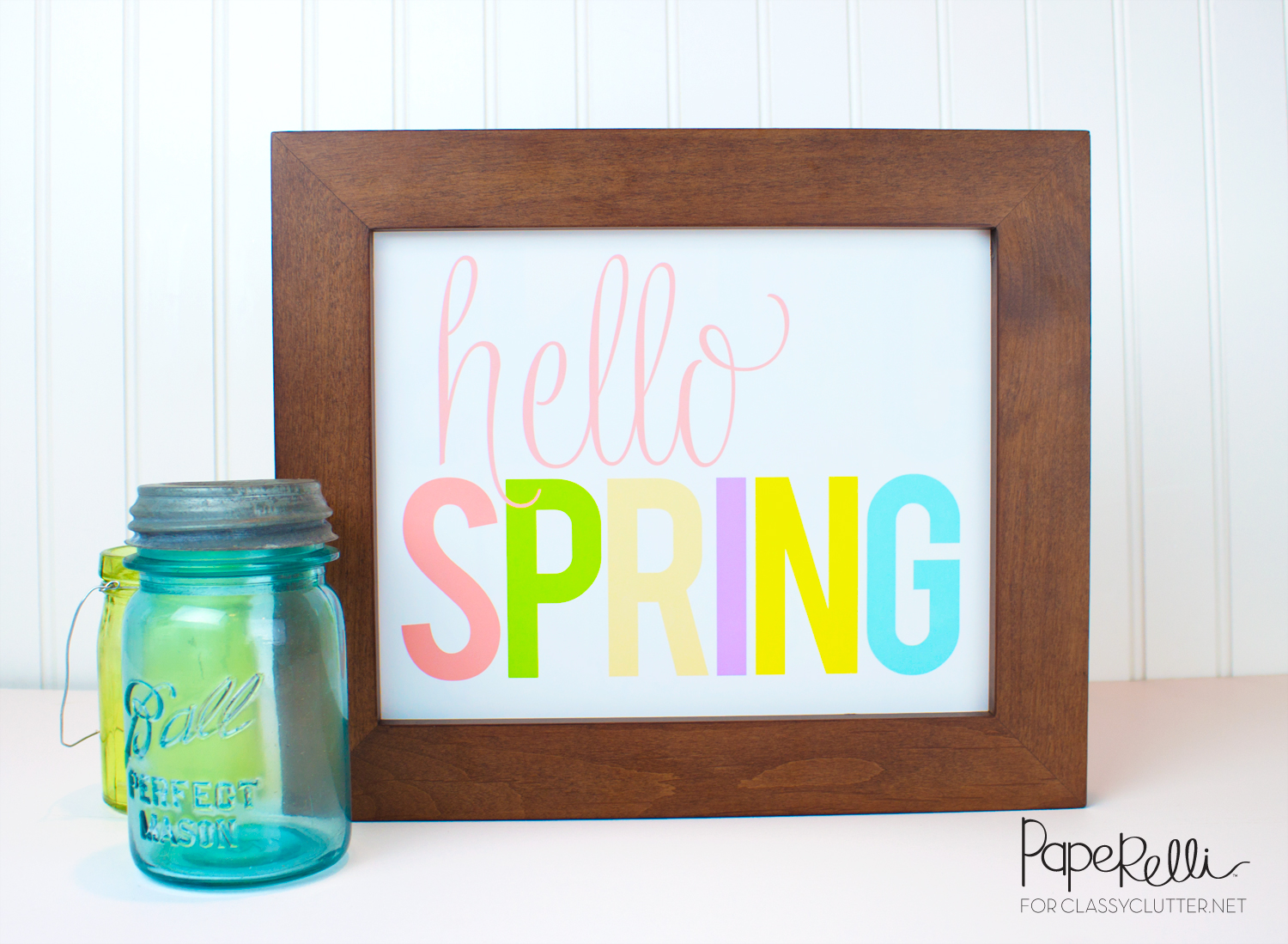 Hello Spring Printable by Paperelli for Classy Clutter