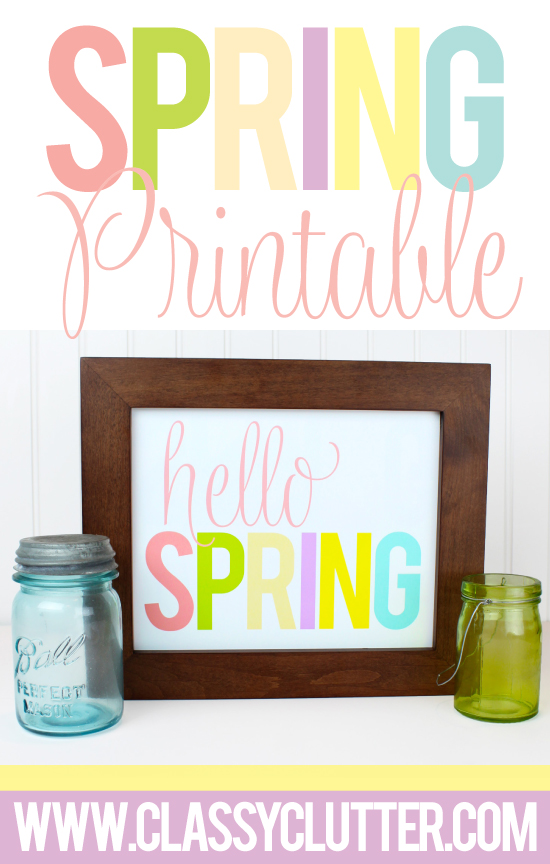 Spring Printables - Classy Clutters