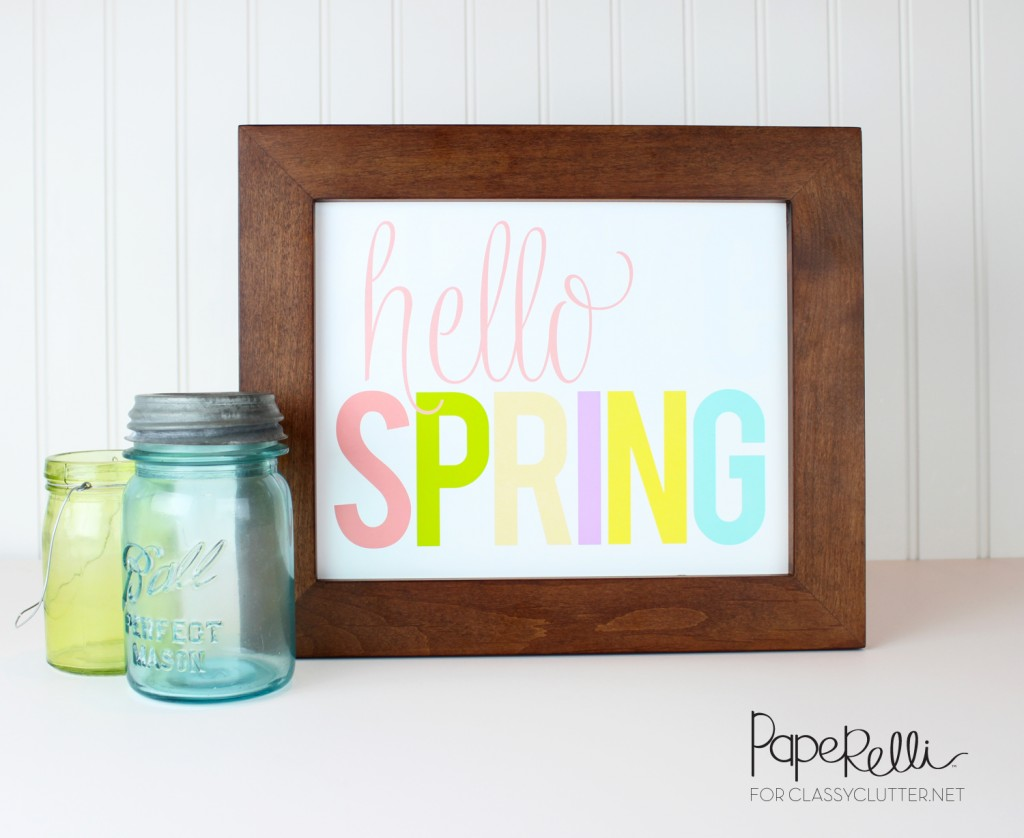 Spring Decor Printable - Paperelli