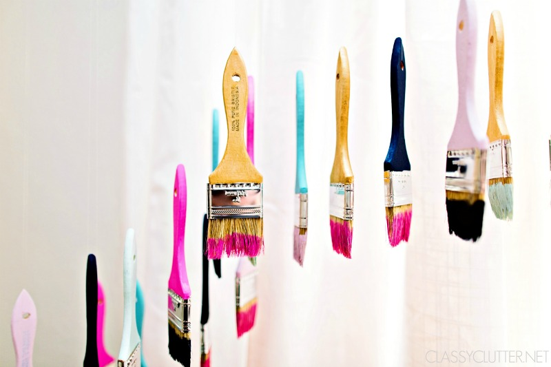 Colorful paintbrush art