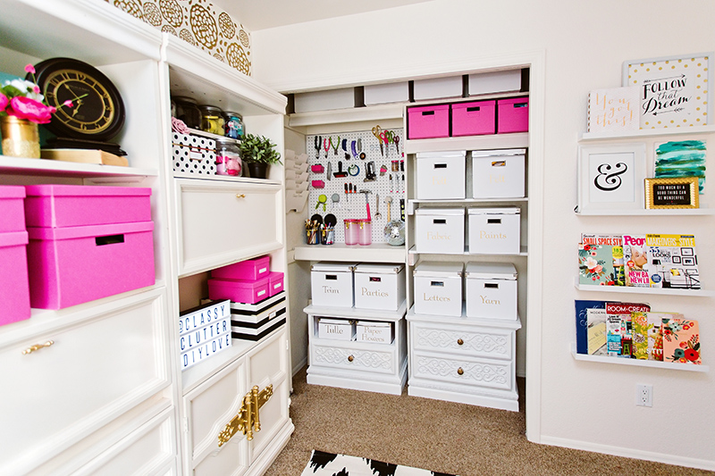 Craft Room Storage Closet