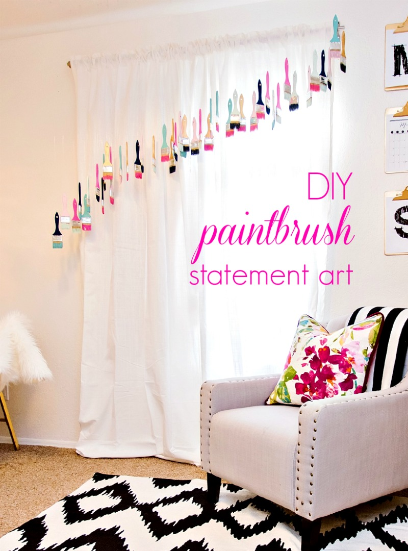 DIY Paintbrush Statement Art - Click for tutorial