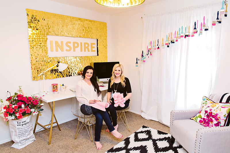 DIY Sequins Wall with Mal and Sav