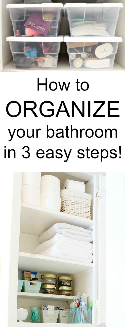 How to organize your bathroom in 3 easy steps classy clutter How to organize bathroom