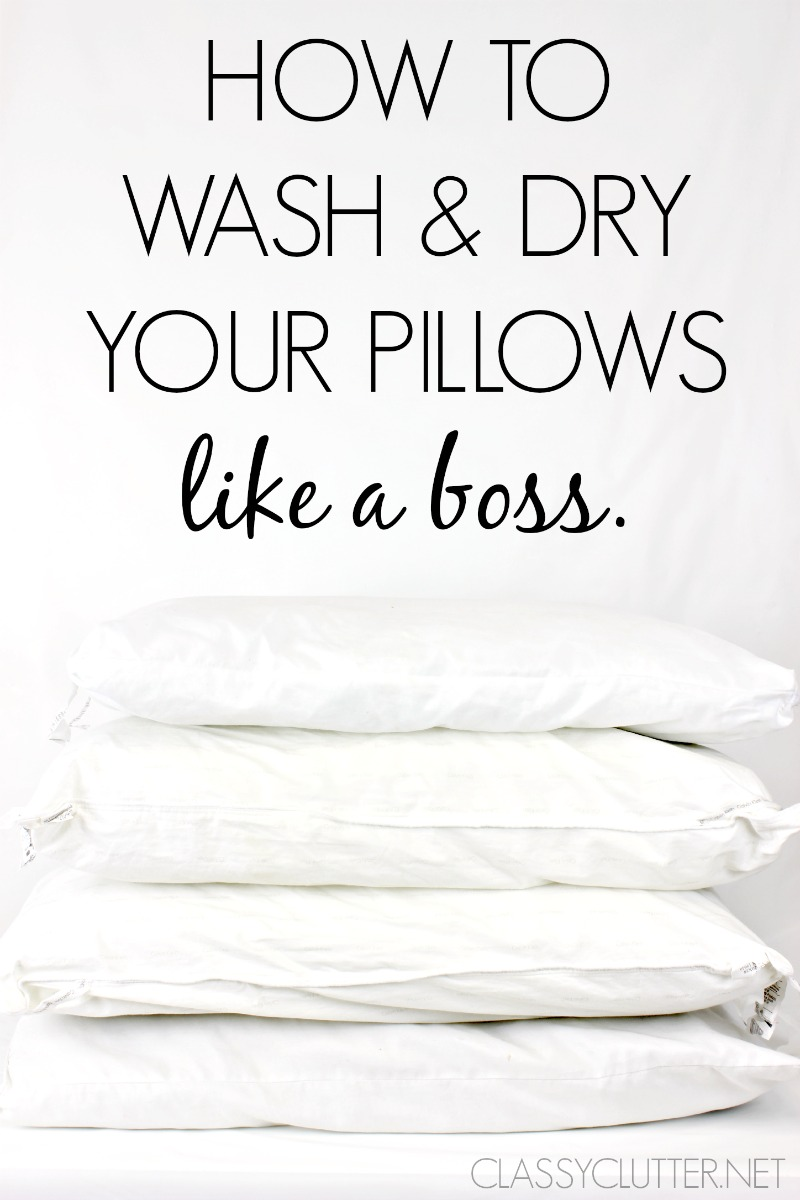 Wash And Dry Pillows Amazingly Classy Clutter