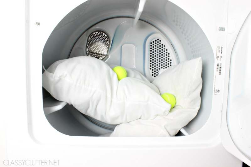 Pillows in Dryer