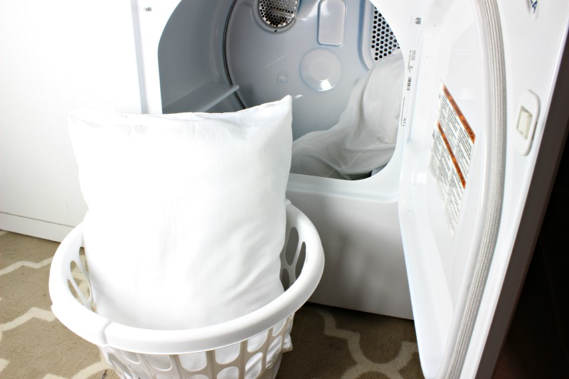 Pillows out of the dryer