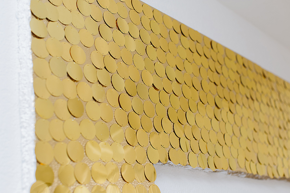 DIY Sequins Wall Art