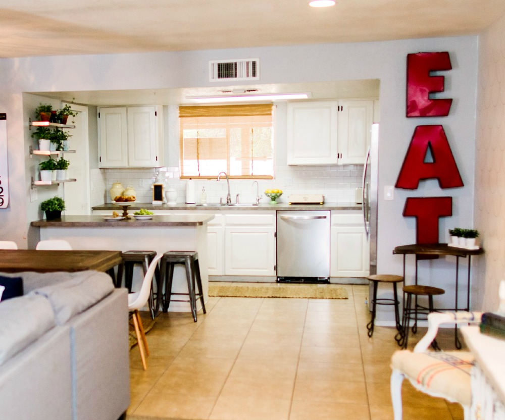 Bright Kitchen Light And Bright Kitchen And Living Room Update