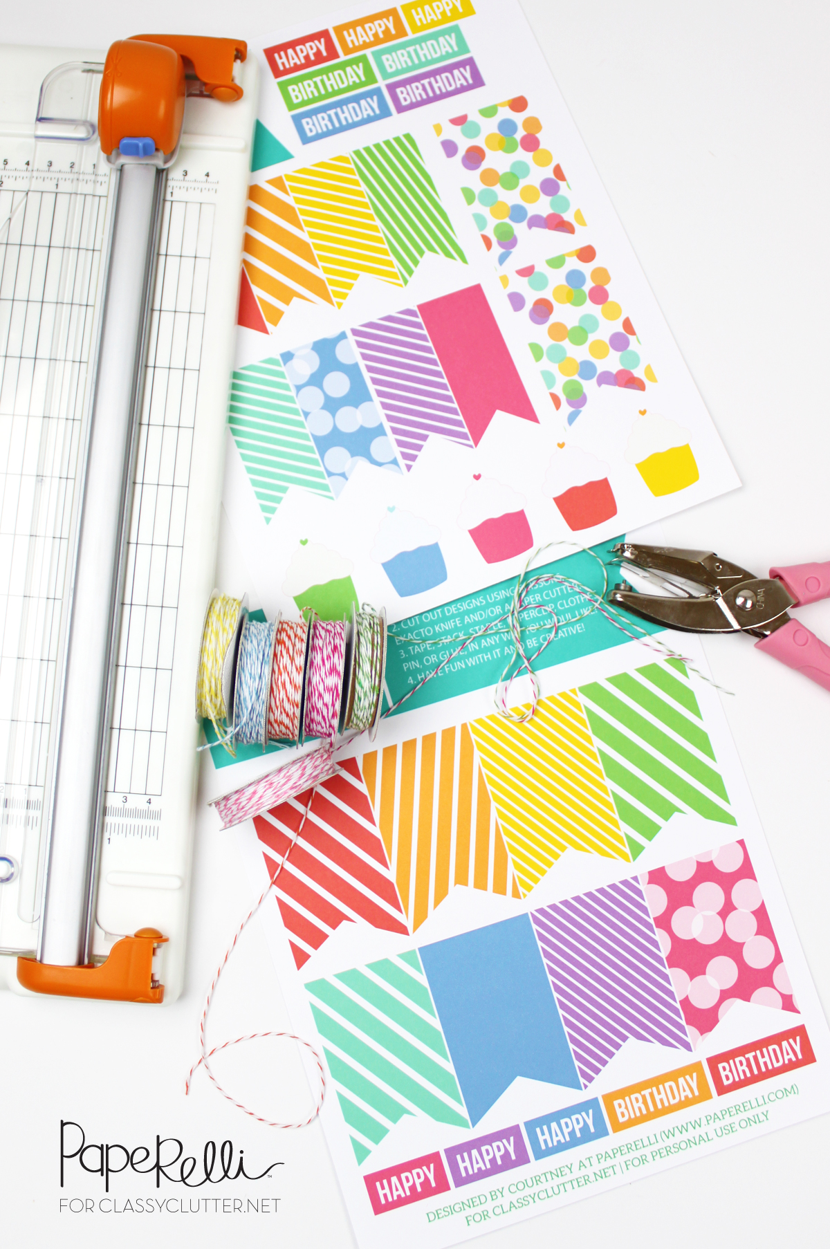 DIY Birthday Tags On Classy Clutter