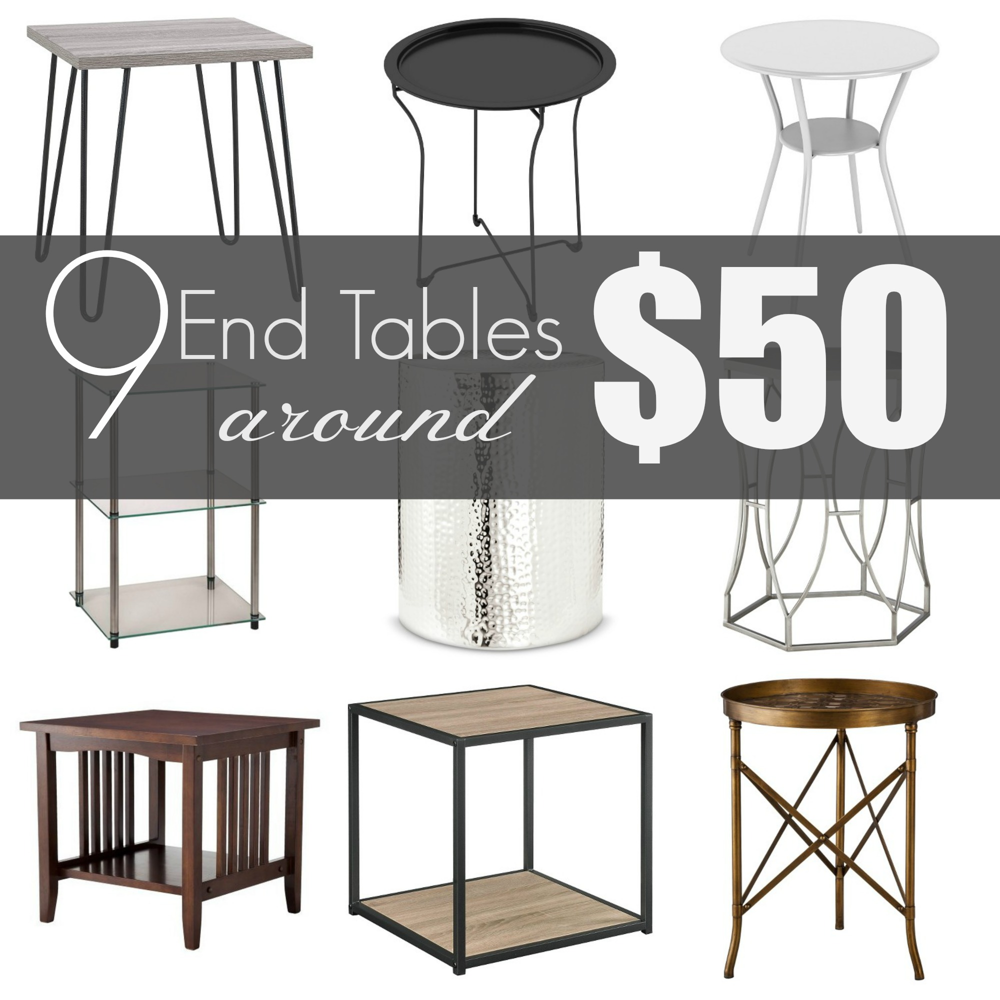 End table under 50