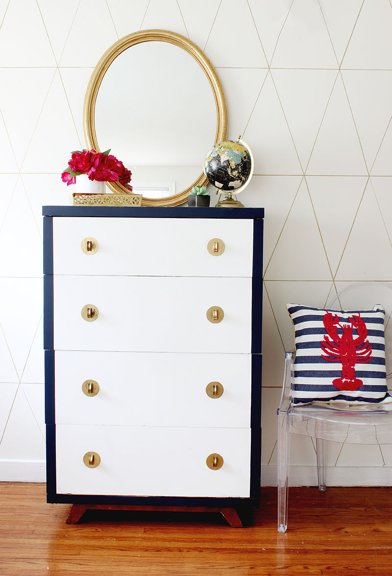 Navy and White Dresser_1