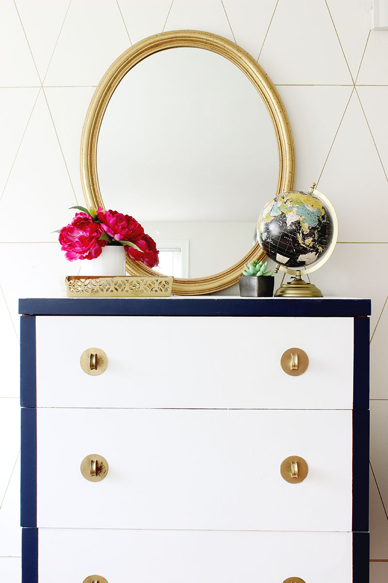 DIY Chalky Finish Dresser Makeover
