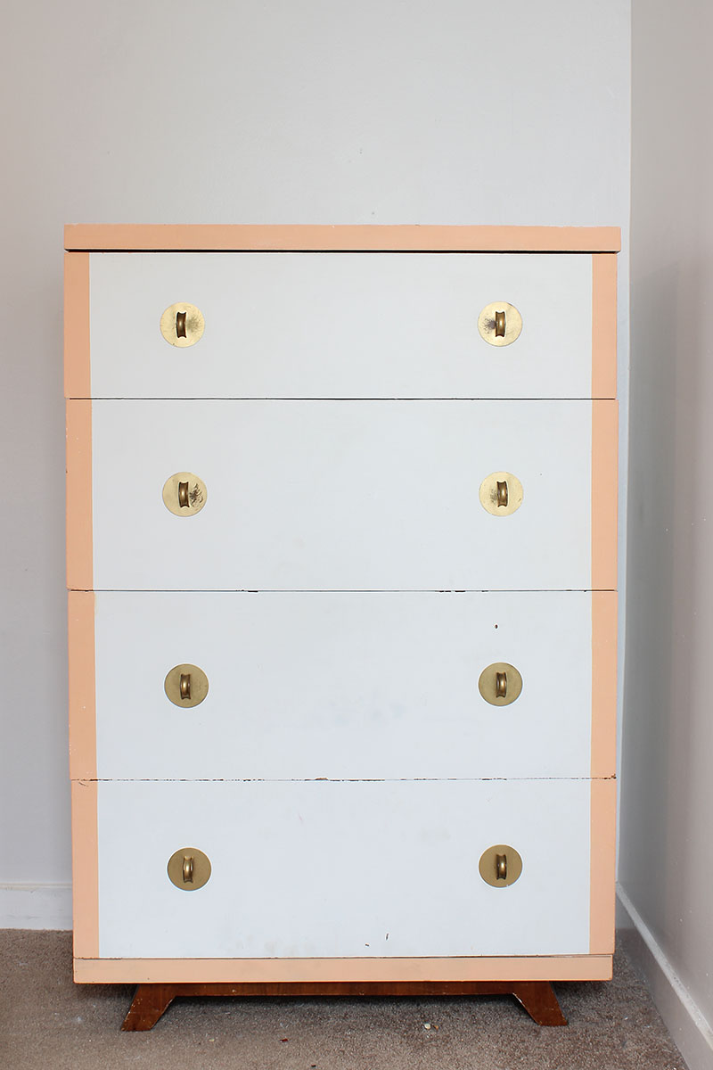 Navy and White Dresser_Before