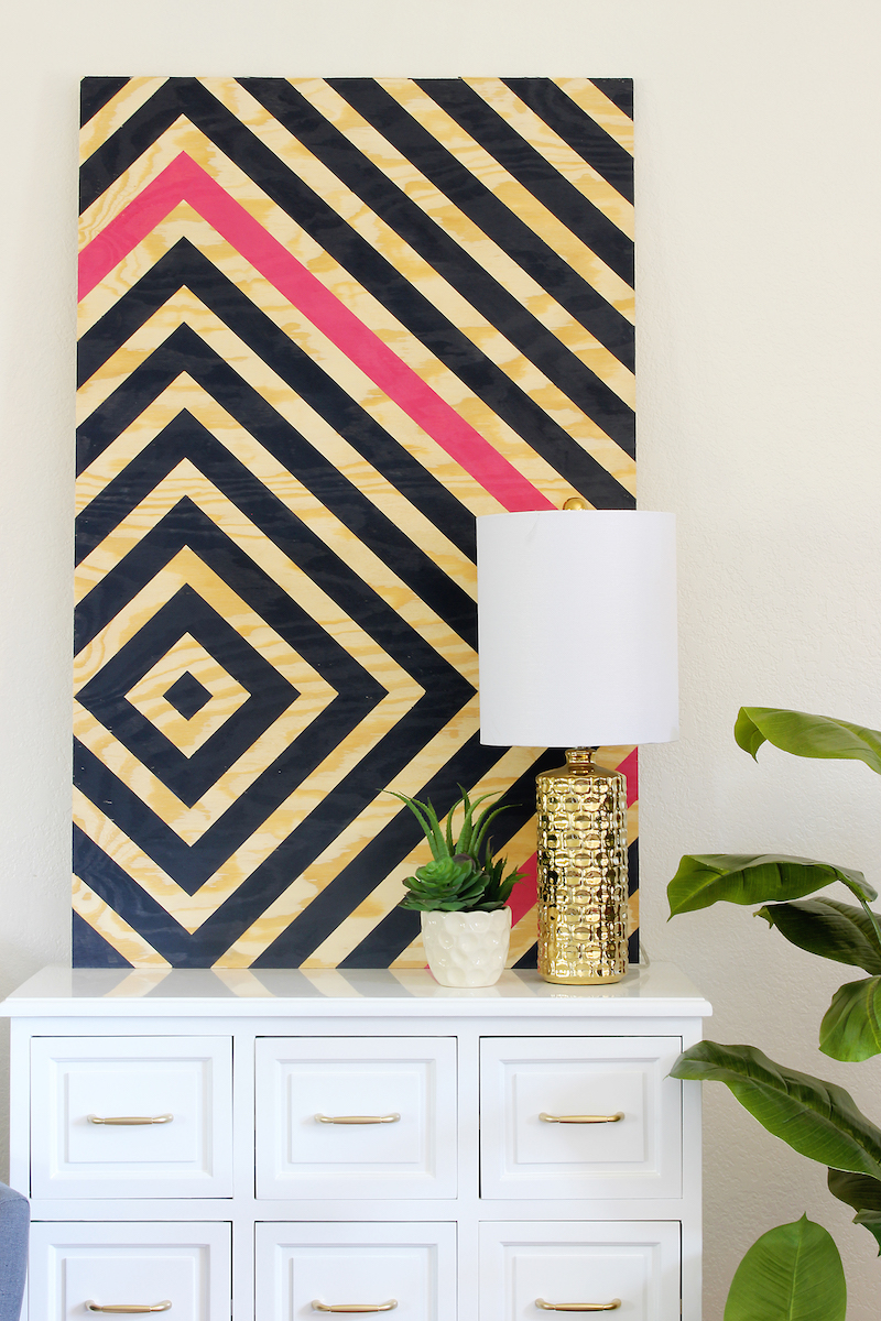 home decor projects diy diamond ripple wall art