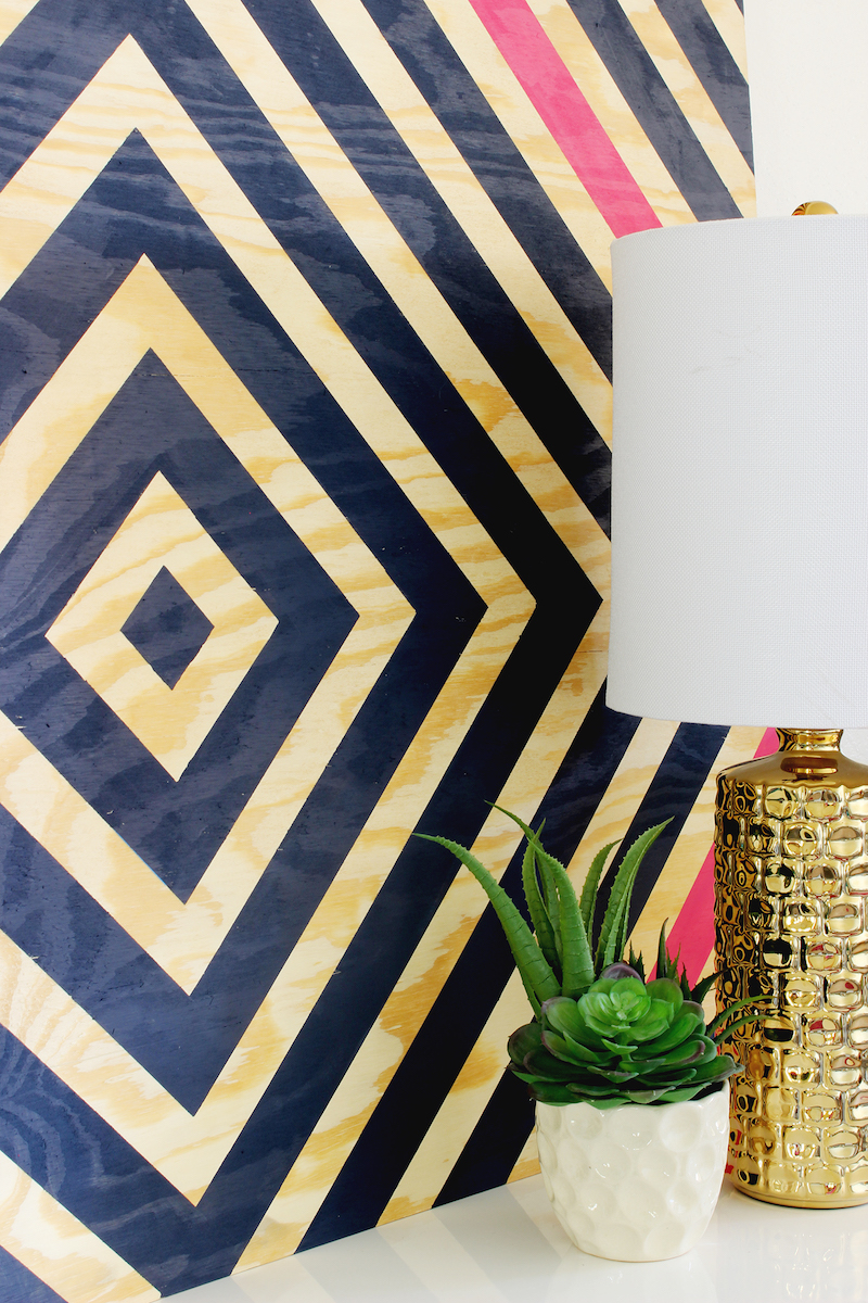 Easy patterns to paint with tape for Diy paint