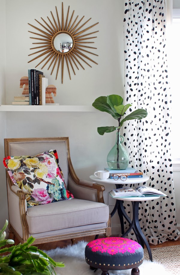 DIY Spotted Curtains