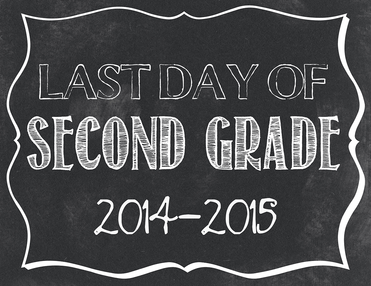 This is a graphic of Selective Last Day of 2nd Grade Printable