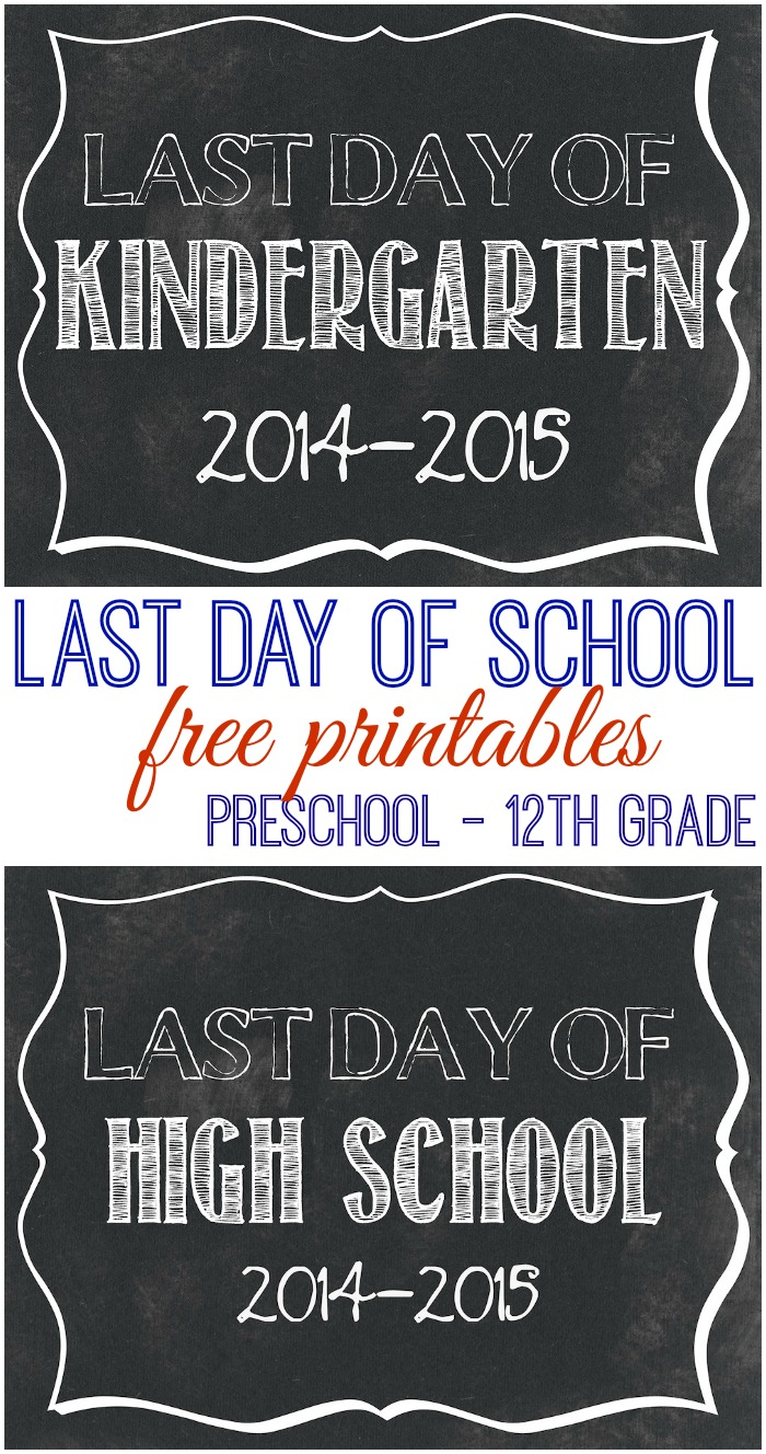 Last Day of School 2015 collage
