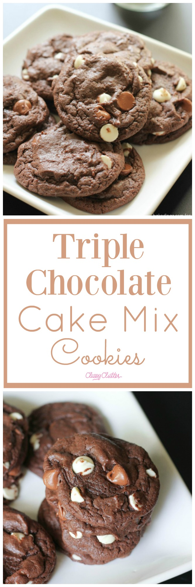 Triple Chocolate Cake Mix Cookies - Classy Clutter