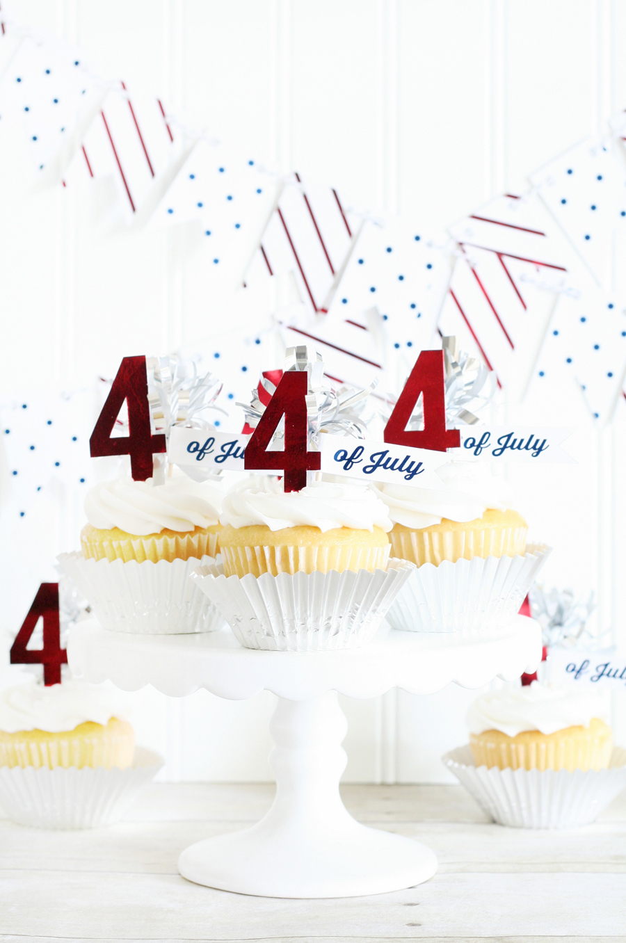 4th of July Cupcake Toppers 4