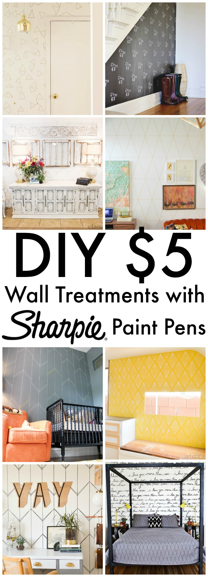 $5 Wall Treatments with Sharpie Paint Pens