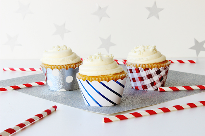 DIY Foiled Cupcake Wrappers 2