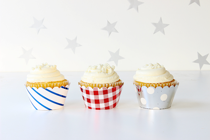 DIY Foiled Cupcake Wrappers 4