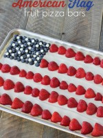 American Flag Fruite Pizza