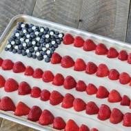 Easy Dessert: American Flag Fruit Pizza
