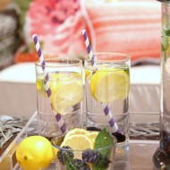 Outdoor Entertaining Ideas: Fresh Mint, Lemon and Blackberry Infused Water Recipe