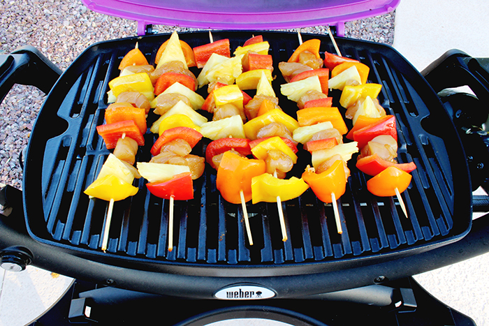 Teriyaki Skewers on Grill