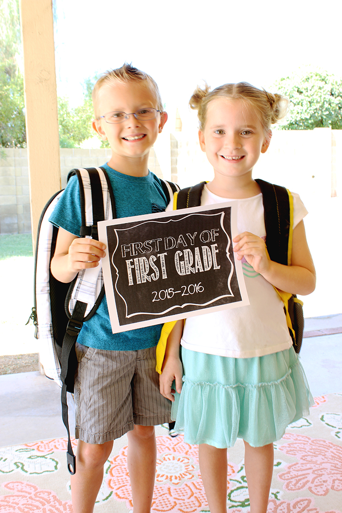 First Day of School - Carter and Bryton