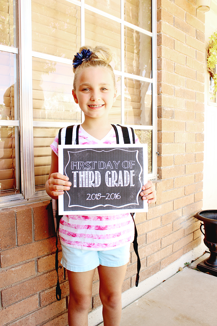 First Day of School - Ryleigh