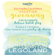 Southern California Theme Park and Vacation Giveaway