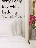 Why I only buy white bedding