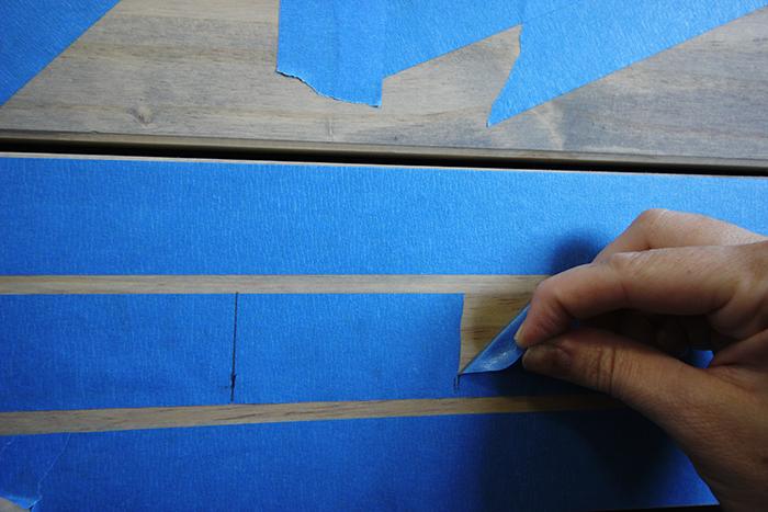 6_Tribal Dresser_Step2_Tape Design
