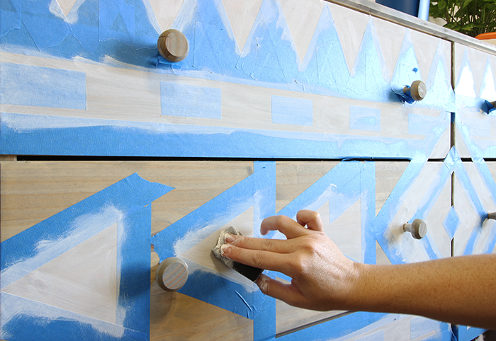 8_Tribal Dresser_Step3_Paint Design