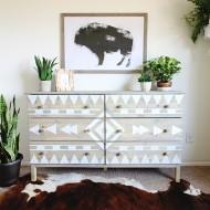 DIY Aztec Inspired Dresser Makeover and Nursery Sneak Peek